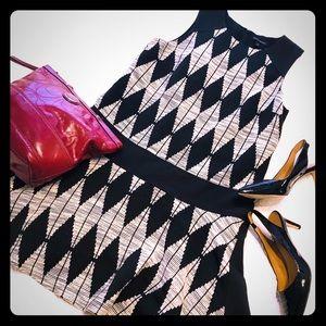 Banana Republic Jacquard Diamond Dress Size 12